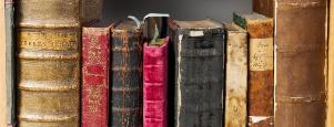 lomos de libros antiguos