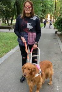 Lida Margarita y su perrita guía