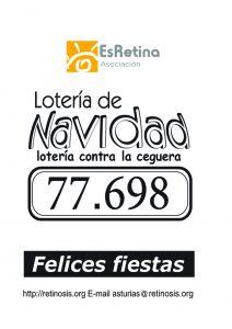 Cartel lotería 2020: número 77.698